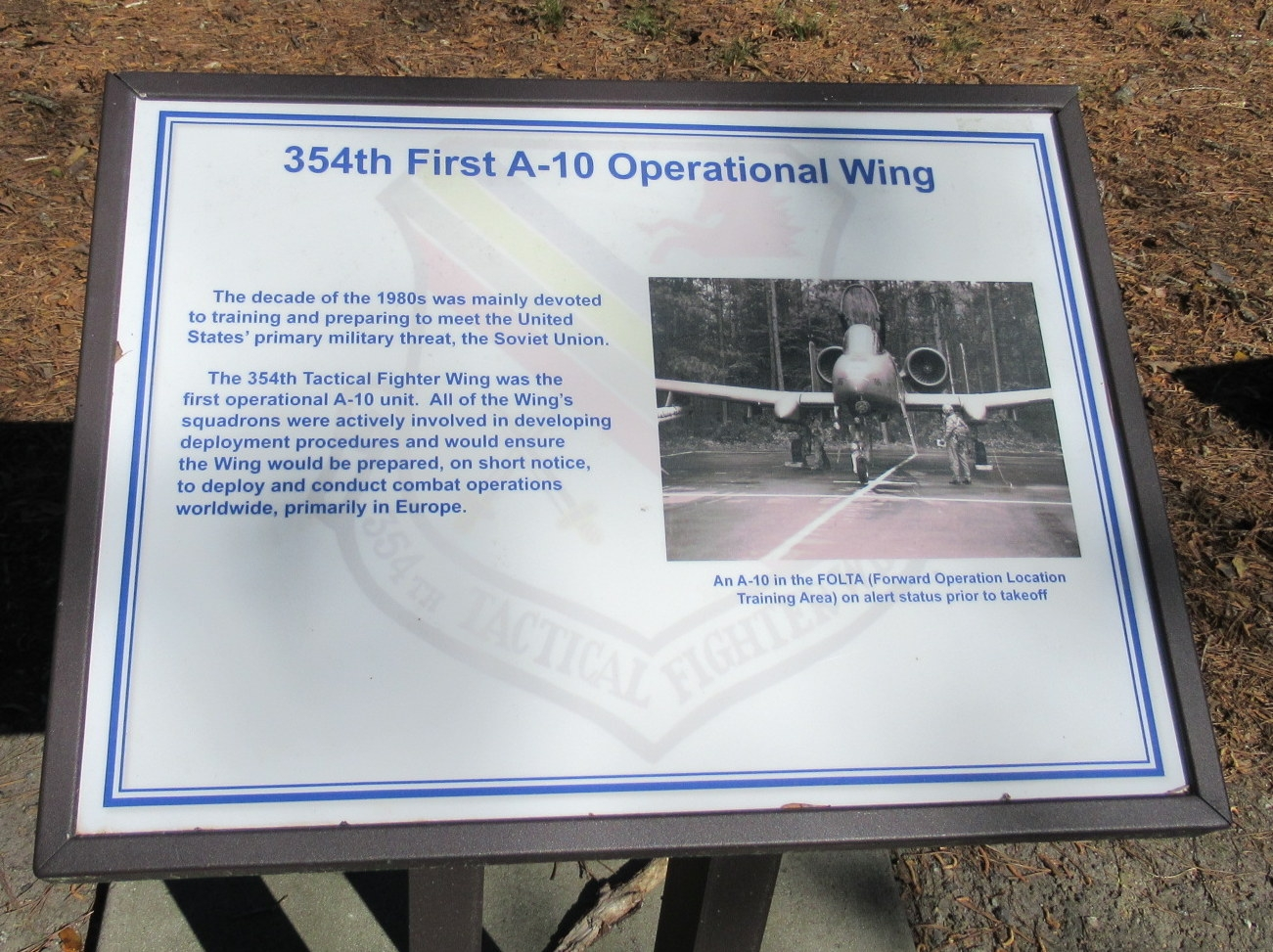 354th First A-10 Operational Wing Marker