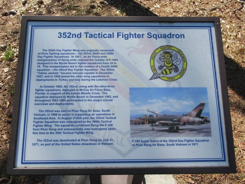 352nd Tactical Fighter Squadron Marker image. Click for full size.