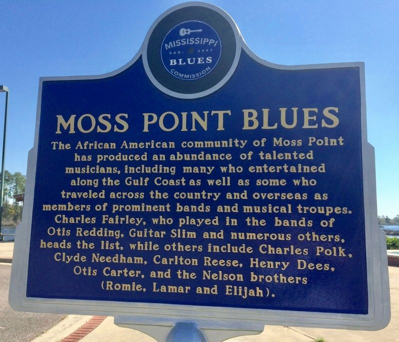 Moss Point Blues Marker (Front) image. Click for full size.