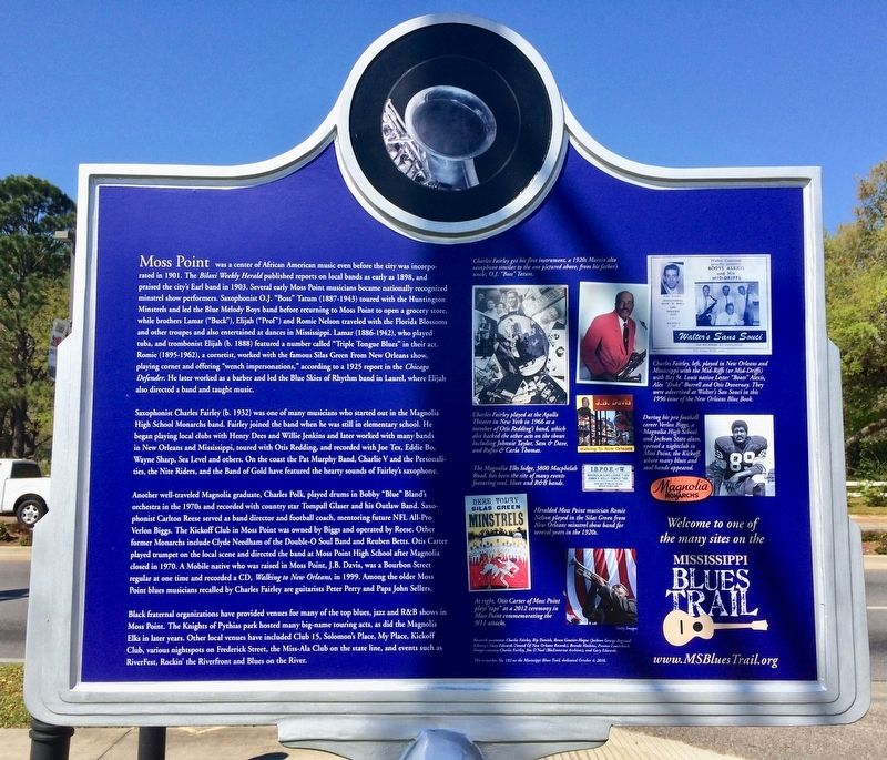 Moss Point Blues Marker (Rear) image. Click for full size.