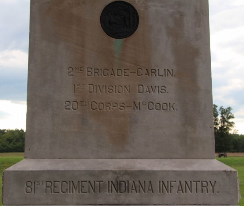 81st Indiana Infantry Marker image. Click for full size.