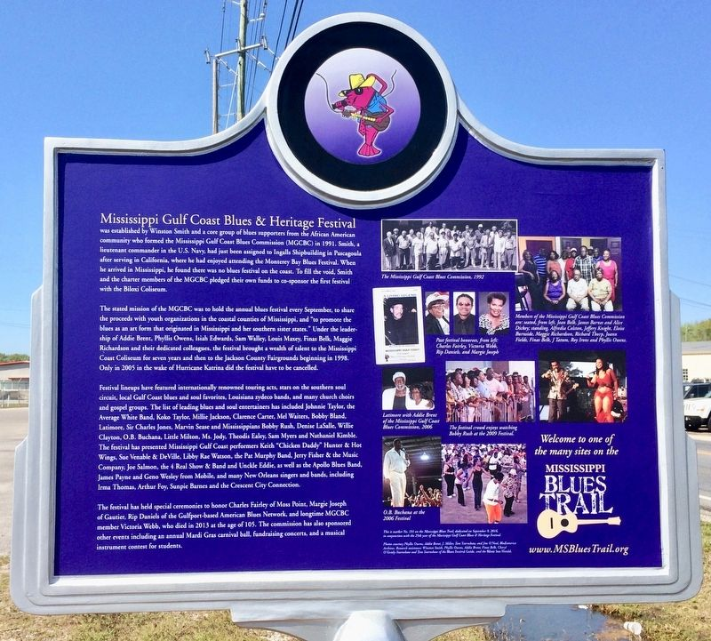 Mississippi Gulf Coast Blues & Heritage Festival Marker (Rear) image. Click for full size.
