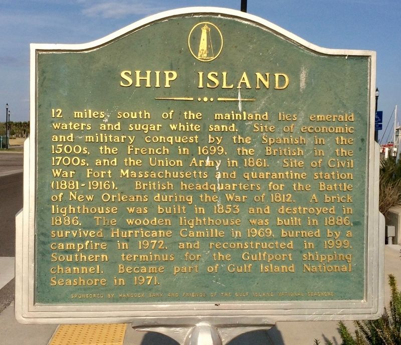 Ship Island Marker image. Click for full size.