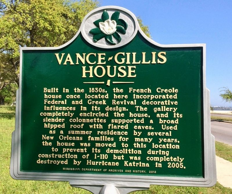 Vance-Gillis House Marker (Front) image. Click for full size.