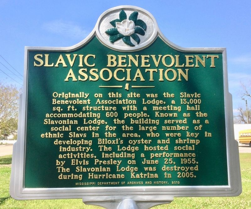 Slavic Benevolent Association Marker image. Click for full size.