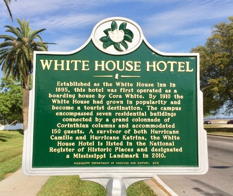 White House Hotel Marker image. Click for full size.