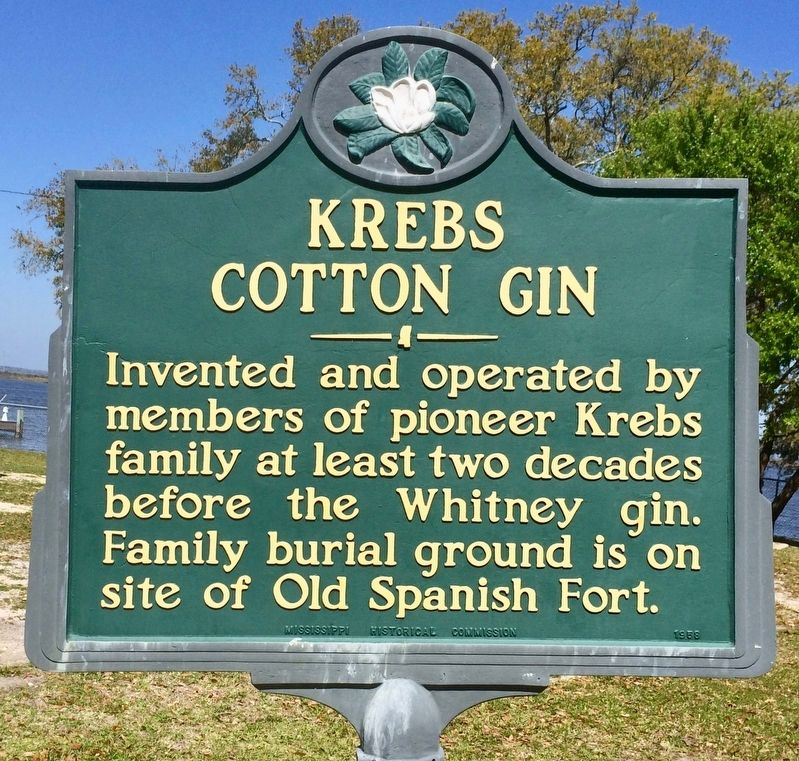 Krebs Cotton Gin Marker image. Click for full size.