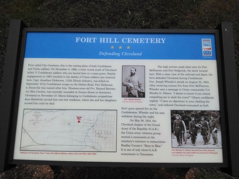 Fort Hill Cemetery Marker image. Click for full size.