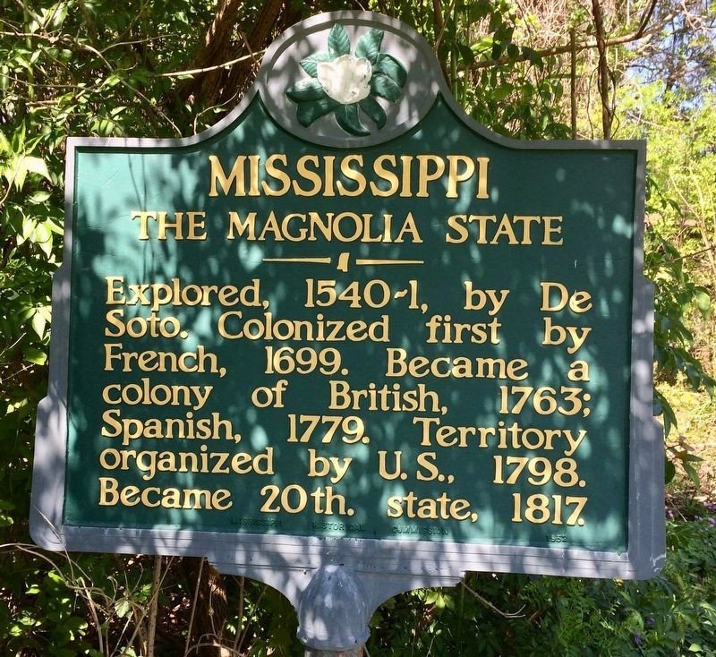 Mississippi, The Magnolia State Marker image. Click for full size.