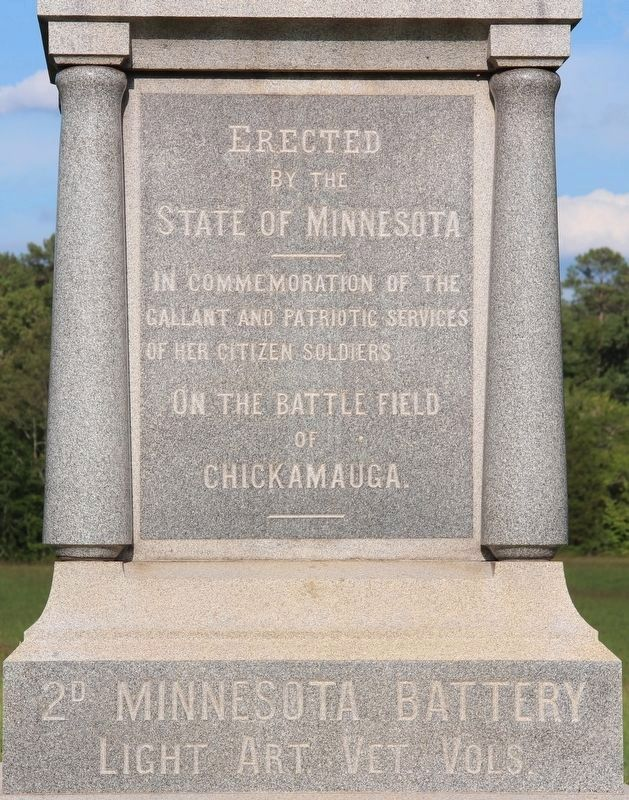 2nd Minnesota Light Artillery Battery Marker image. Click for full size.