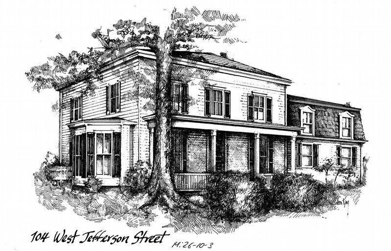 Prettyman House<br>104 West Jefferston Street<br>M: 26-10-3 image. Click for full size.