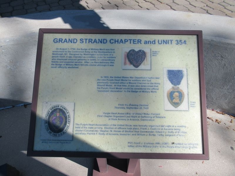 Grand Strand Chapter and Unit 354 Marker image. Click for full size.