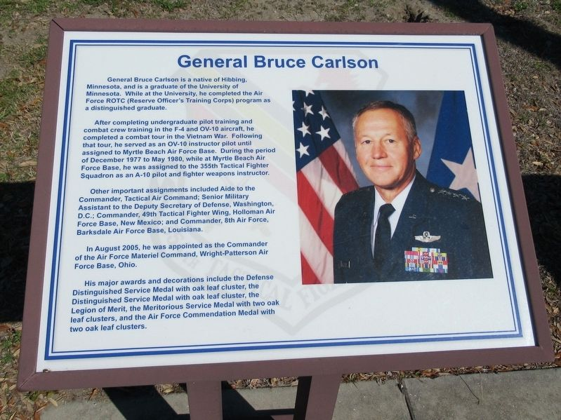 General Bruce Carlson Marker image. Click for full size.