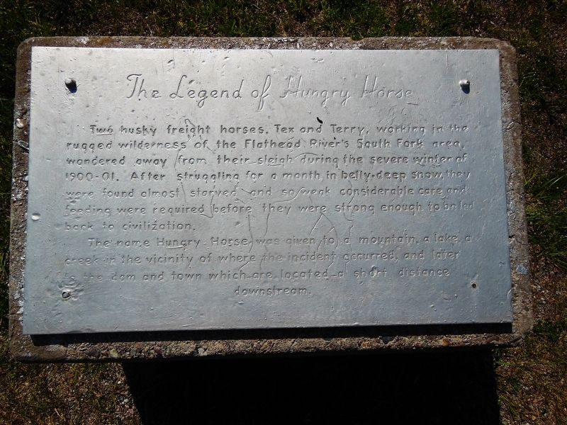 The Legend of Hungry Horse Marker image. Click for full size.