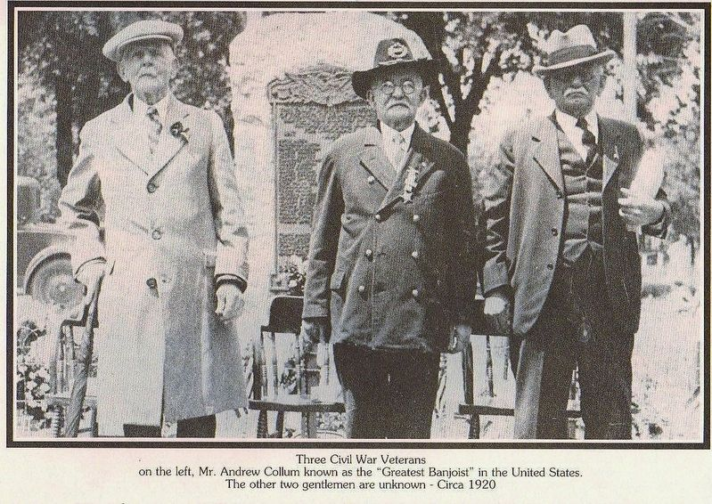 Three surviving Civil War Vets at Honor Roll Marker image. Click for full size.