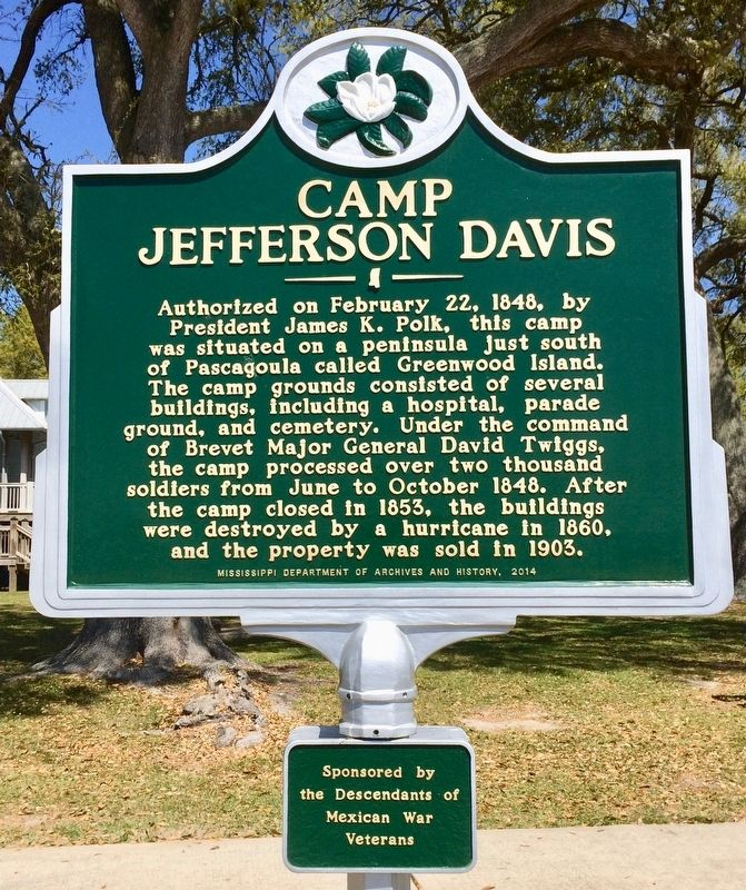 Camp Jefferson Davis Marker image. Click for full size.