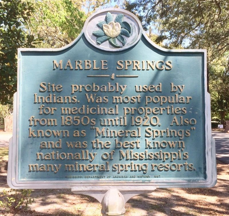 Marble Springs Marker image. Click for full size.