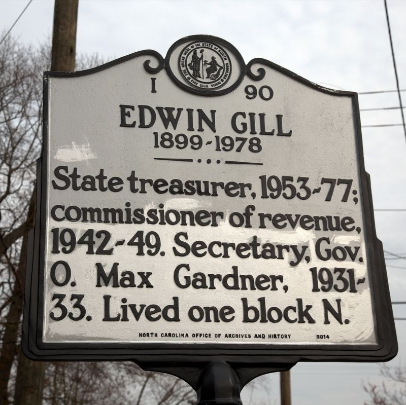 Edwin Gill Marker image. Click for full size.