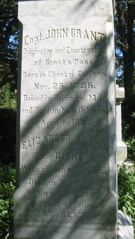 Grave marker of Capt. John Grant at Grant Cemetery. image. Click for full size.