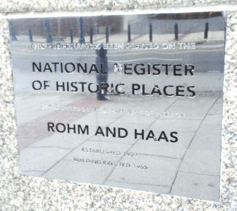 Rohm and Haas [Headquarters] NRHP Marker image. Click for full size.