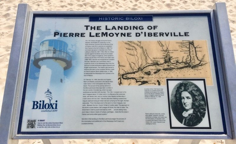 The Landing of Pierre LeMoyne D'Iberville Marker image. Click for full size.