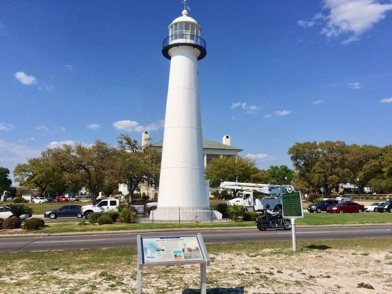 This Biloxi Lighthouse Marker, with another Biloxi Lighthouse marker just to the right. image. Click for full size.
