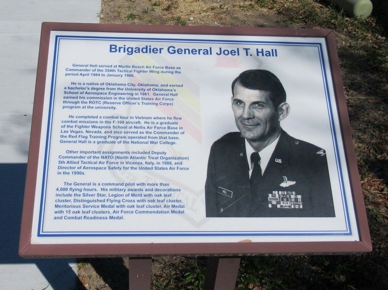 Brigadier General Joel T. Hall Marker image. Click for full size.