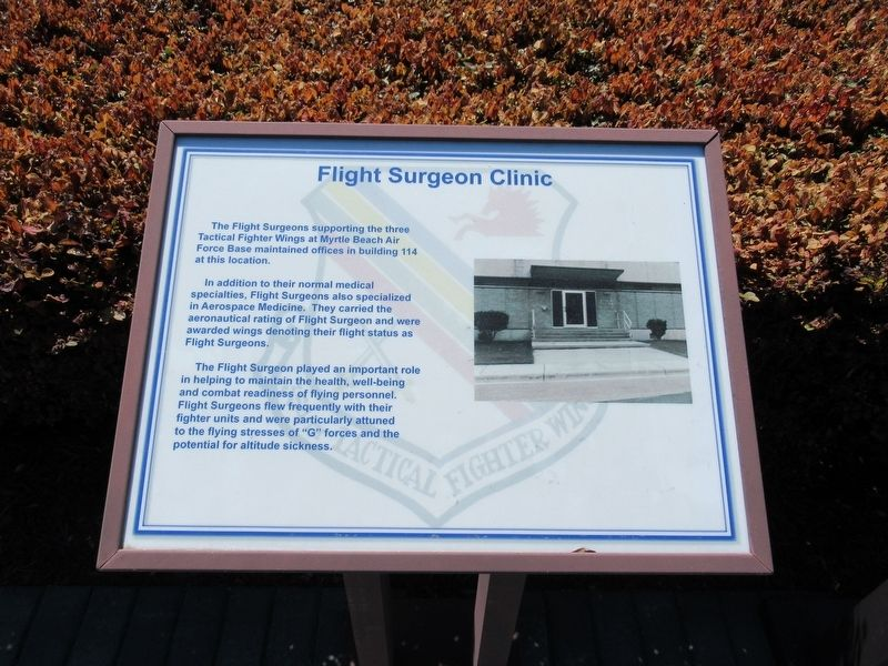 Flight Surgeon Clinic Marker image, Touch for more information
