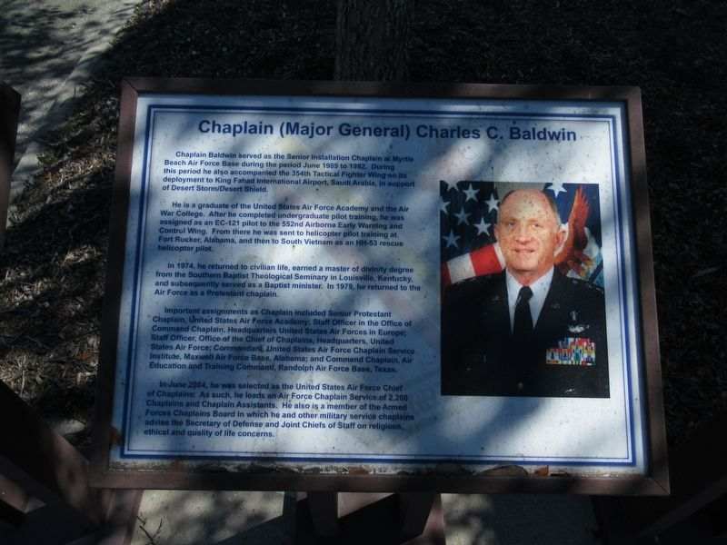Chaplain (Major General) Charles C. Baldwin Marker image. Click for full size.