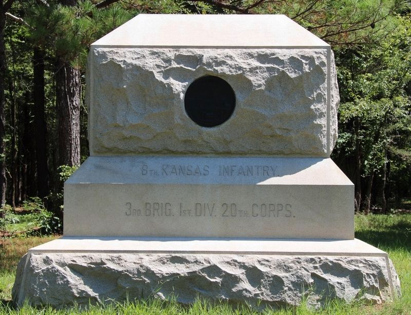 8th Kansas Volunteer Infantry Marker image. Click for full size.