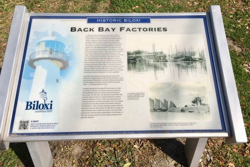 Back Bay Factories Marker image. Click for full size.