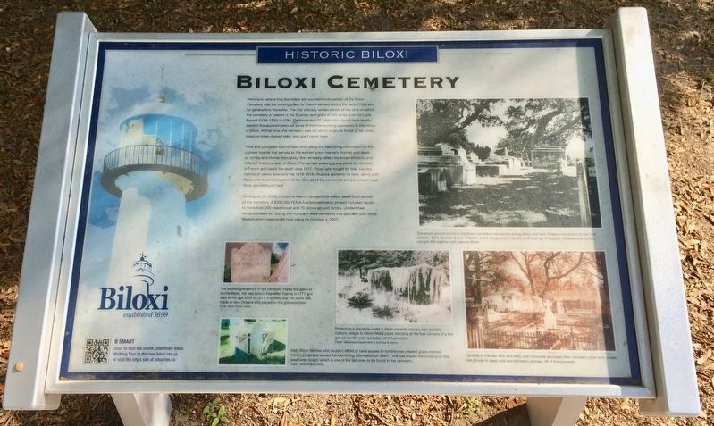 Biloxi Cemetery Marker image. Click for full size.