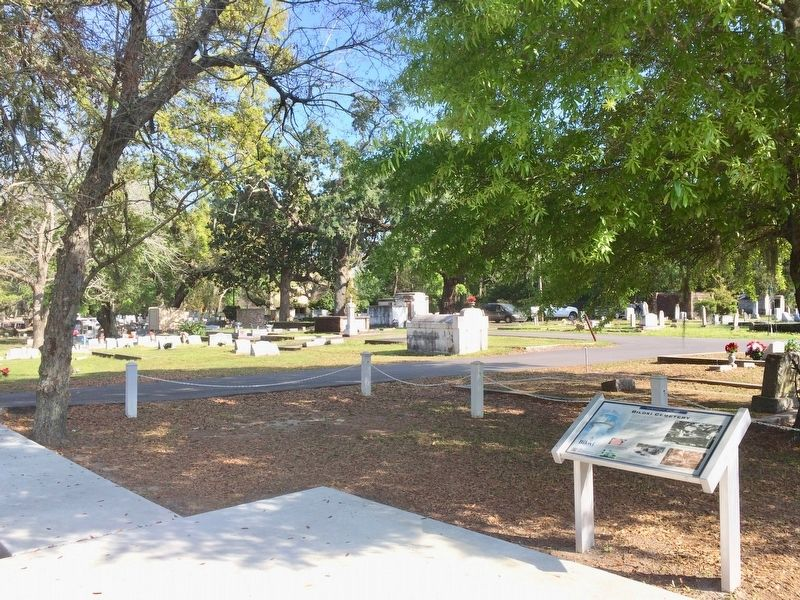 View of the marker and a small portion of the cemetery. image. Click for full size.