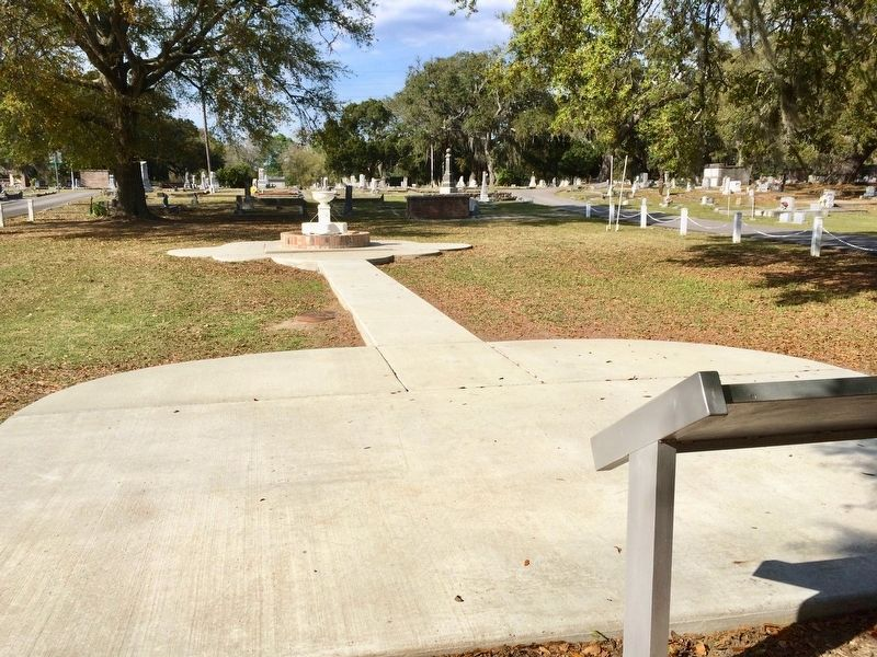 Area around the marker, built as part of the marker installation. image. Click for full size.
