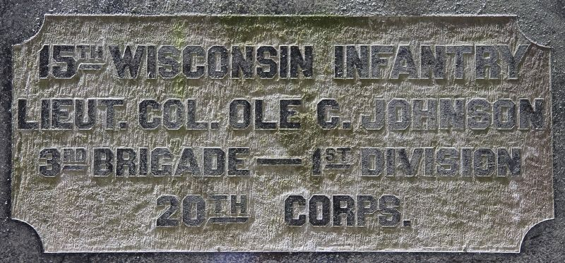 15th Wisconsin Infantry Marker image. Click for full size.
