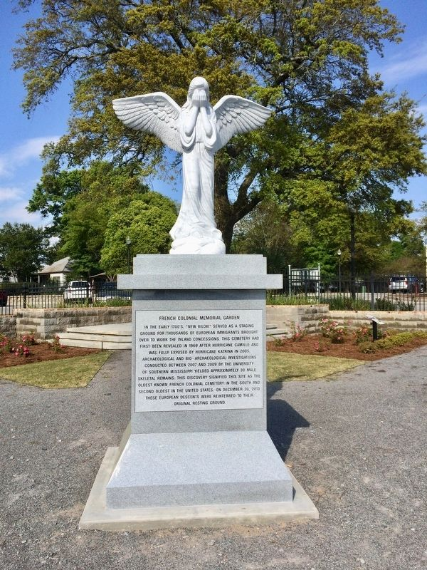 Recently added to the memorial garden - Weeping Angel statue. image. Click for full size.