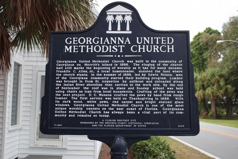 Georgianna United Methodist Church Marker image. Click for full size.