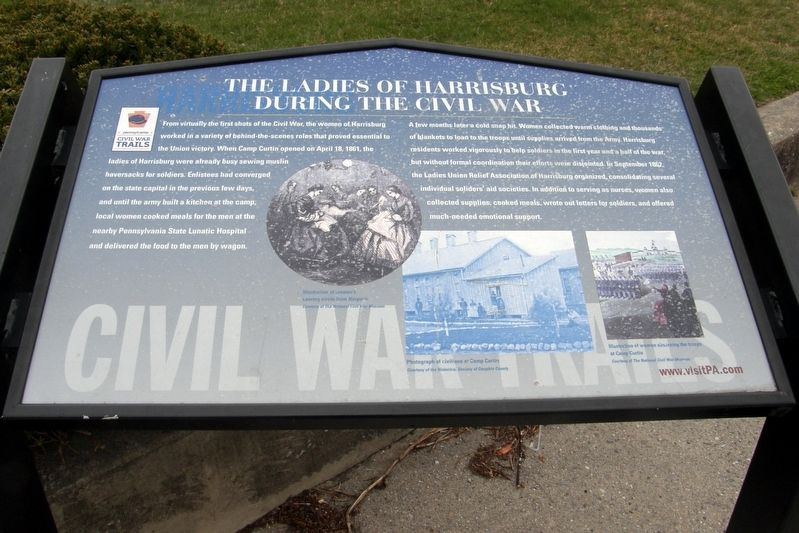 The Ladies of Harrisburg During The Civil War Marker image. Click for full size.