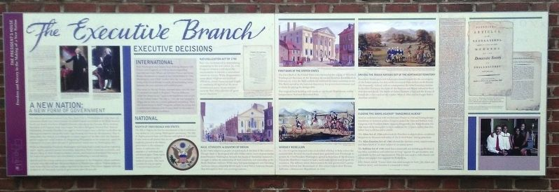 The Executive Branch Marker image. Click for full size.