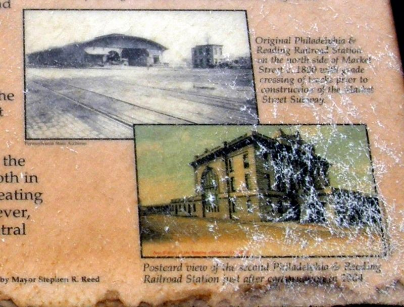 Old Philadelphia & Reading Railroad Station Marker image. Click for full size.