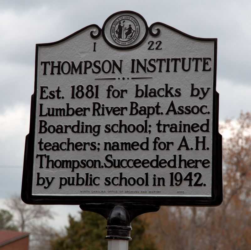 Thompson Institute Marker image. Click for full size.
