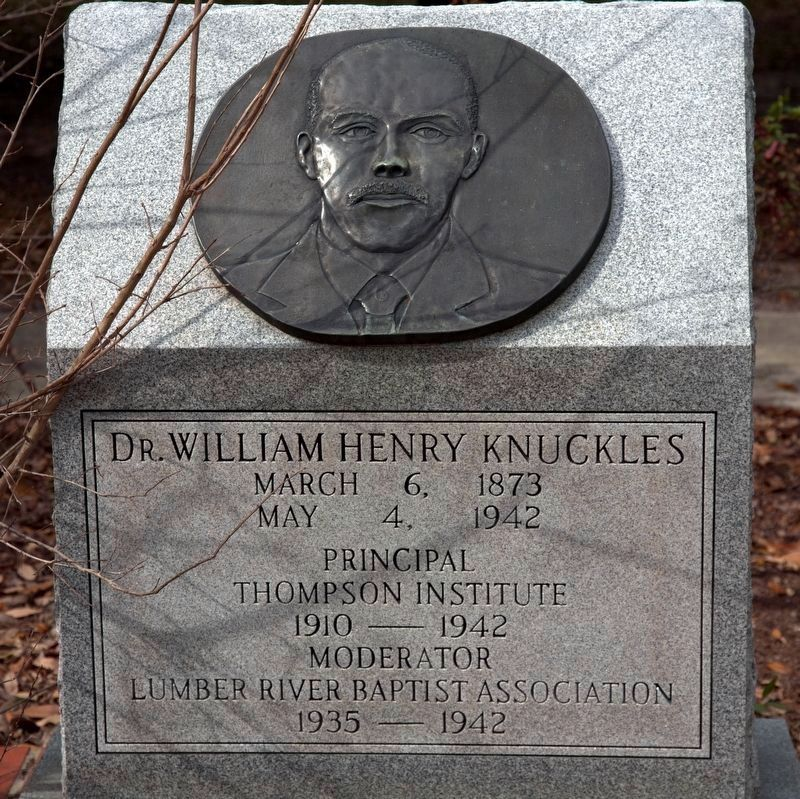 Dr. William Henry Knuckles Memorial Monument image. Click for full size.