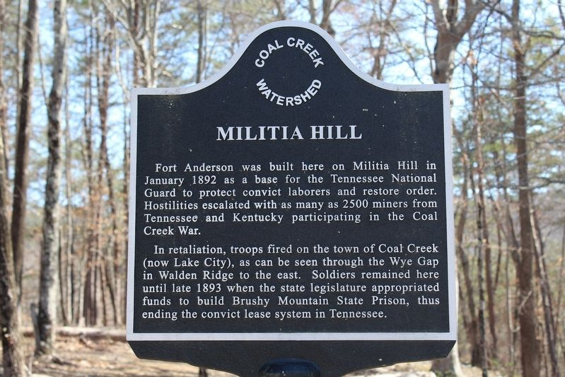 Militia Hill Marker image. Click for full size.