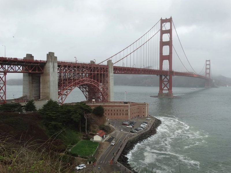 Fort Point, San Franscico, California under the Golden Gate Bridge. image. Click for full size.