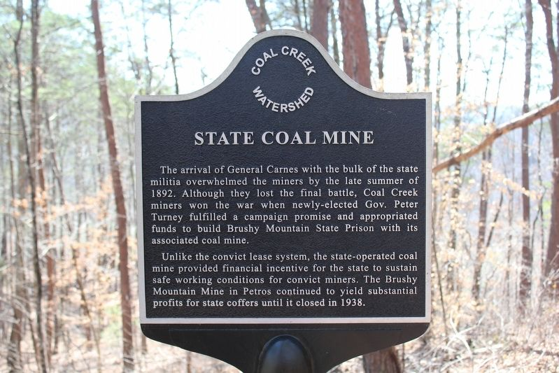 State Coal Mine Marker image. Click for full size.