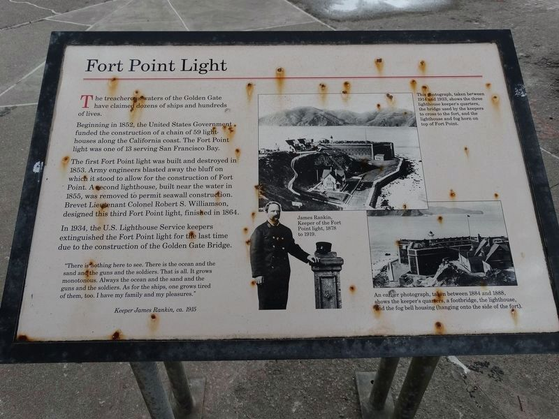 Fort Point Light Marker image. Click for full size.