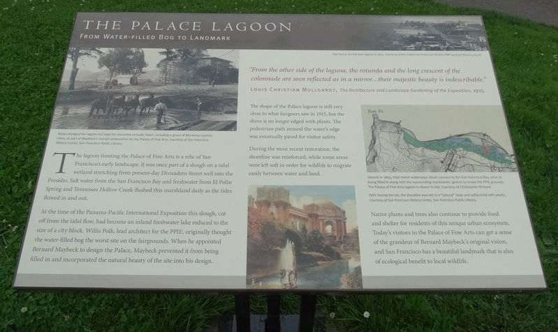 The Palace Lagoon Marker image. Click for full size.