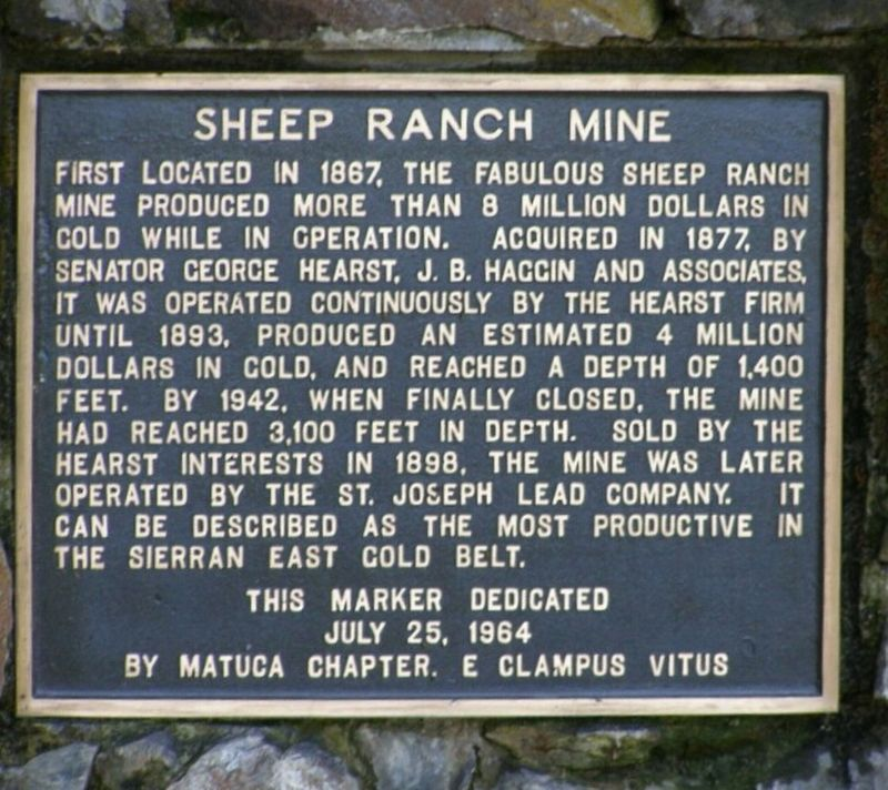 Sheep Ranch Mine Marker image. Click for full size.