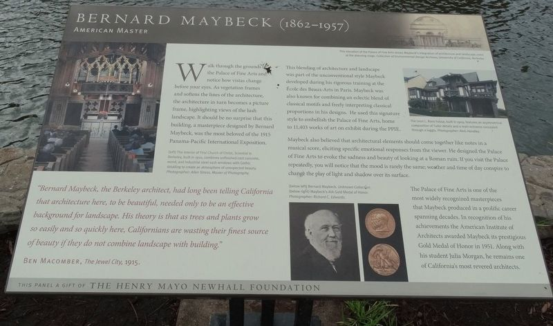 Bernard Maybeck (1862-1957) Marker image. Click for full size.