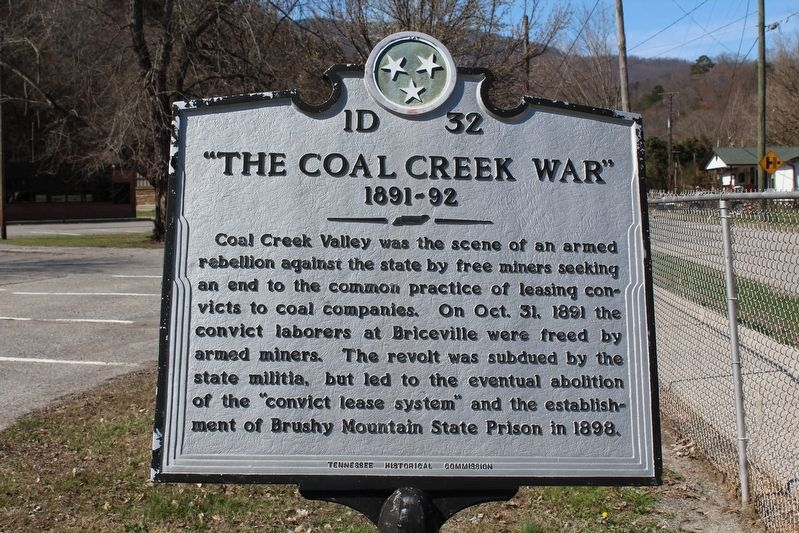 """The Coal Creek War"" Marker image. Click for full size."